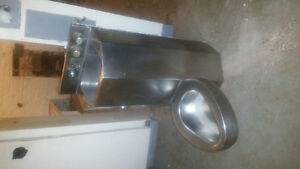 Combination steel toilet with lavatory