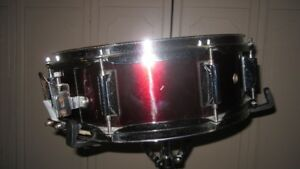 "5"" X 14"" Burgundy Wrap,Snare Drum,NEW Snare Wires"