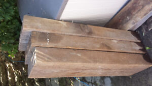 3 large wood pieces