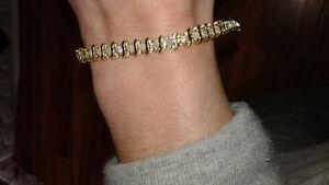 Bracelet tennis Or 10 carats (18 grammes)