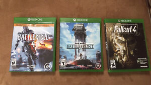 Xbox One games- battlefield 4 Star Wars battlefront Fallout4
