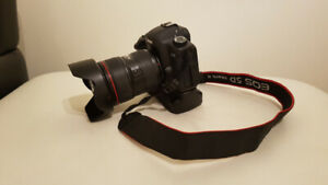 Canon 5d mkii with 24-70 f2.8L, battery grip, 2 batteries,sd