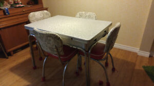 Retro kitchen table with chairs