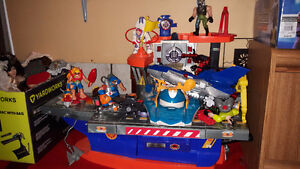 Fisher Price Rescue heroes toys and command centre