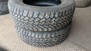 Pair of 2 Goodyear Nordic Winter 215/65R16 WINTER tires (70% tre
