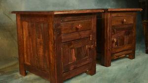Table de chevet,de nuit,meuble antique rustique bois recyclé