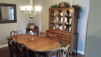 Dining Set - Gibbard Solid Wood Table & Hutch