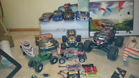 A whole bunch of rc cars and a nitro 1/8 scale