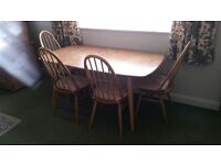 Ercol Dining Table and 6 Chairs