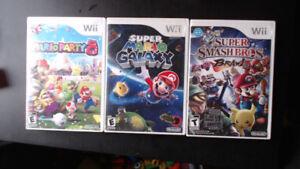 Plusieurs jeux de Wii. Prix dans la description!