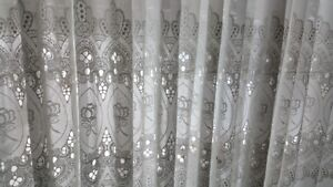 Lace curtains, high-quality window dressing covering