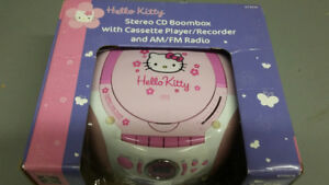 BRAND NEW- New Year's Special ! Hello Kitty CD Stereo Boombox
