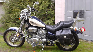 1998 Yamaha Virago with upgrades sold as is.