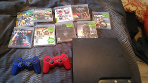 Sony Playstation 3, plus 2 controllers and 9 games