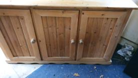 Large Solid Pine 3 Door Sideboard