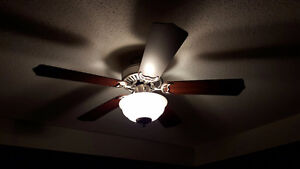 """42"""" Brown Wood Ceiling fan with Light Kit and Remote"""