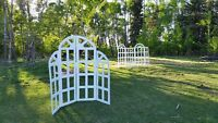 Classy White Backdrops for Weddings and other Functions