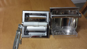 New In Wall Toilet Paper And Soap Dish For Sale . In wall soap d