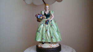 Antique Italian figurine table lamp