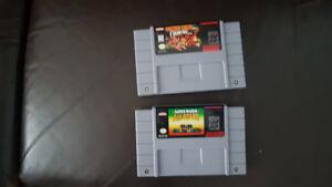 2 très bon jeux(reproductions ) de super Nintendo
