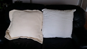 2 square pillows
