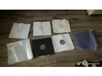 """OVER 220 12"""" inch record covers, vinyl inners, sleeves, paper, card polythene plastic"""