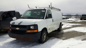 2006 CHEVROLET 2500 SERIES CARGO VAN WITH RACKING AND SHELVING
