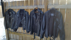 OLD BIKERS' LEATHER JACKETS