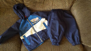 12 month splash pants and rain jacket