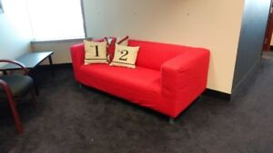 """IKEA Sofa 70"""" x 35"""" with decorative pillows. Great Condition!"""