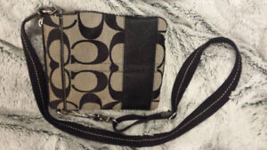 Authentic Black and Grey Coach Crossbody