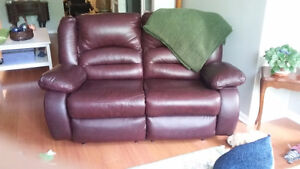 2 Matching recliner love seats