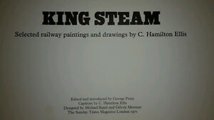 King Steam (1971) Railway Paintings and Drawings by C. Hamilton