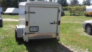 Covered utility trailer