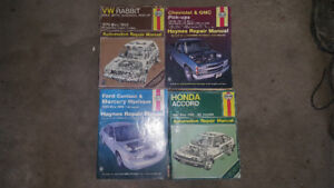 Haynes Automobile Repair Manuals Honda Accord Volkswagen VW Rabb