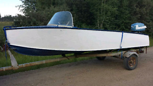 16ft Aroliner Debonaire Alum Boat 230lbs Only. 25hp + Trailer