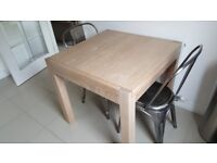 Next blonde oak extendable dining table