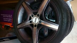 "18"" MODA GUNMETAL RIMS AND TIRES (REDUCED)"