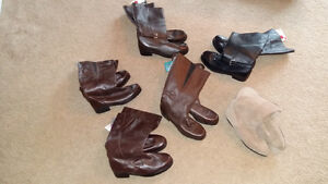 Brand new leather and suede size 10.5 ladies boots