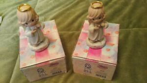 2 Precious Moments June Birthday Retired Angel Figurines#261254