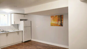 Renovated legal 1-bed basement unit in Whitby downtown