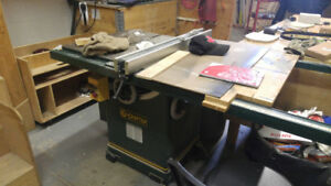 Table Saw with Dust Collector