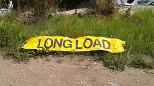Over size load sign