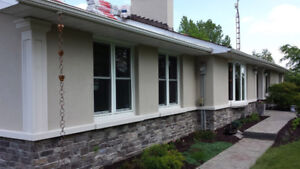 Exterior Stucco  Molding renovation, Instalation, power wash