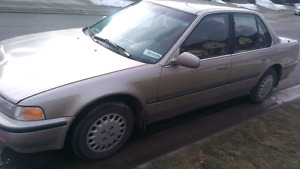 93 HONDA ACCORD EX $600 OBO WILL TAKE TRADES!!!!!