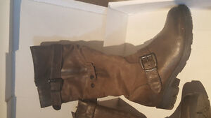 MJUS LONTRA Boots Leather Brown Women's Size 8.5