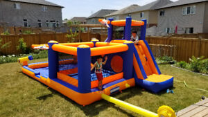 Summer here, RENT your own inflatable water Park for your Party!
