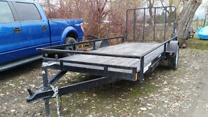 Barely Used Rainbow 16 ft utility trailer