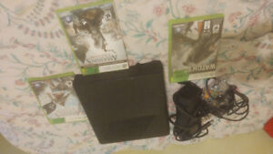 Xbox 360, 3 games, 1 Controller, All wires included W/ 2 USB.