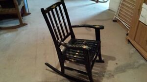 vintage plantation rocking chair, hand painted by R.Gogo